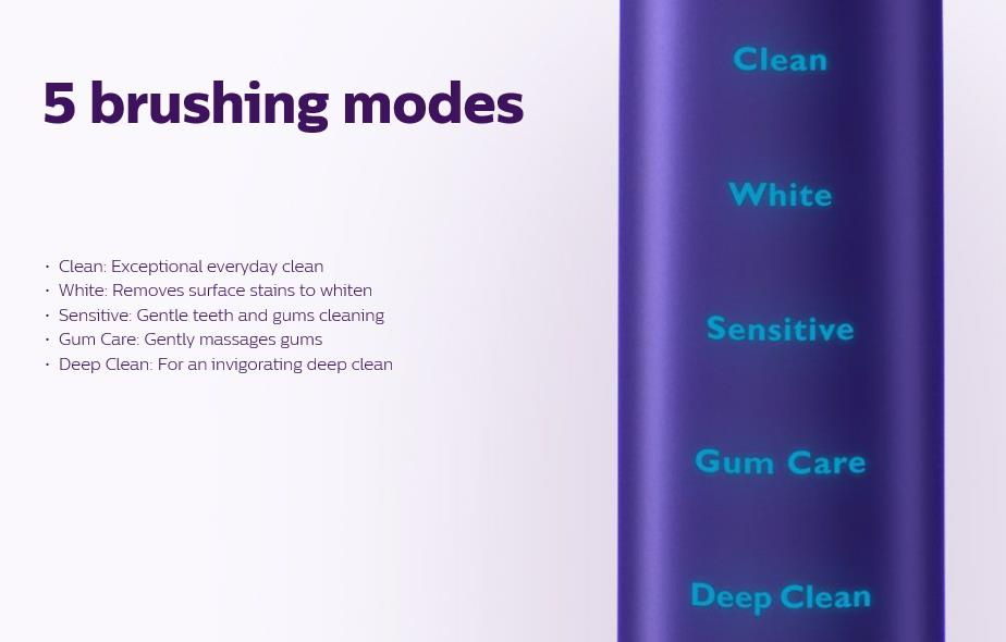 Philips Sonicare Diamond Clean 5 brushing modes