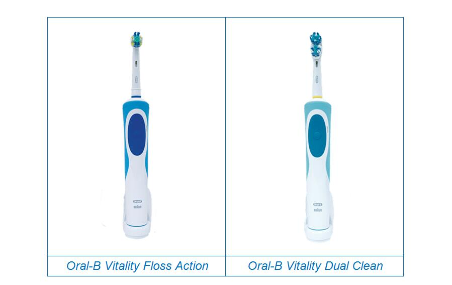 Oral-B Vitality Floss Action and Dual Clean