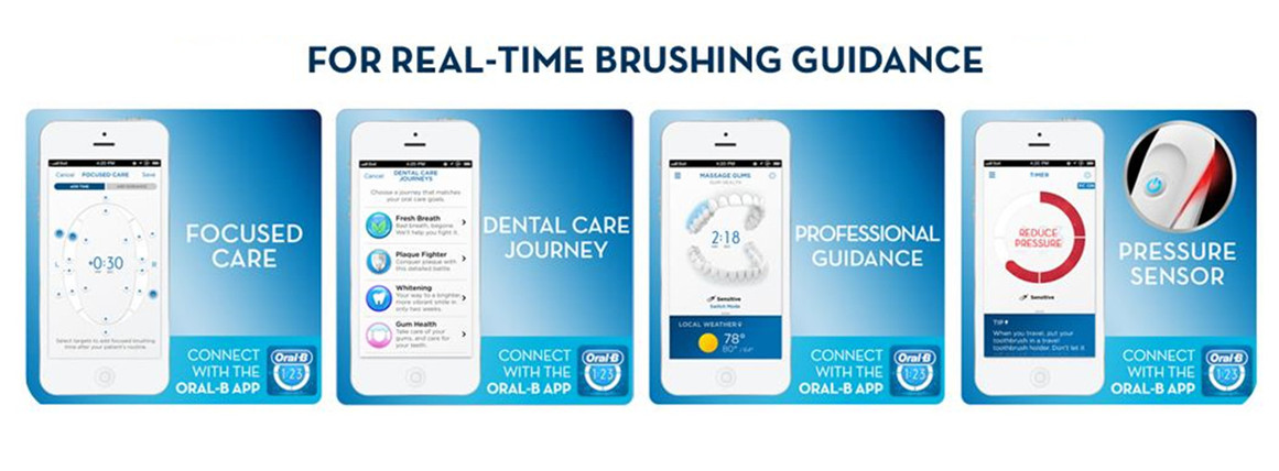 Oral-B APP and real time feeback
