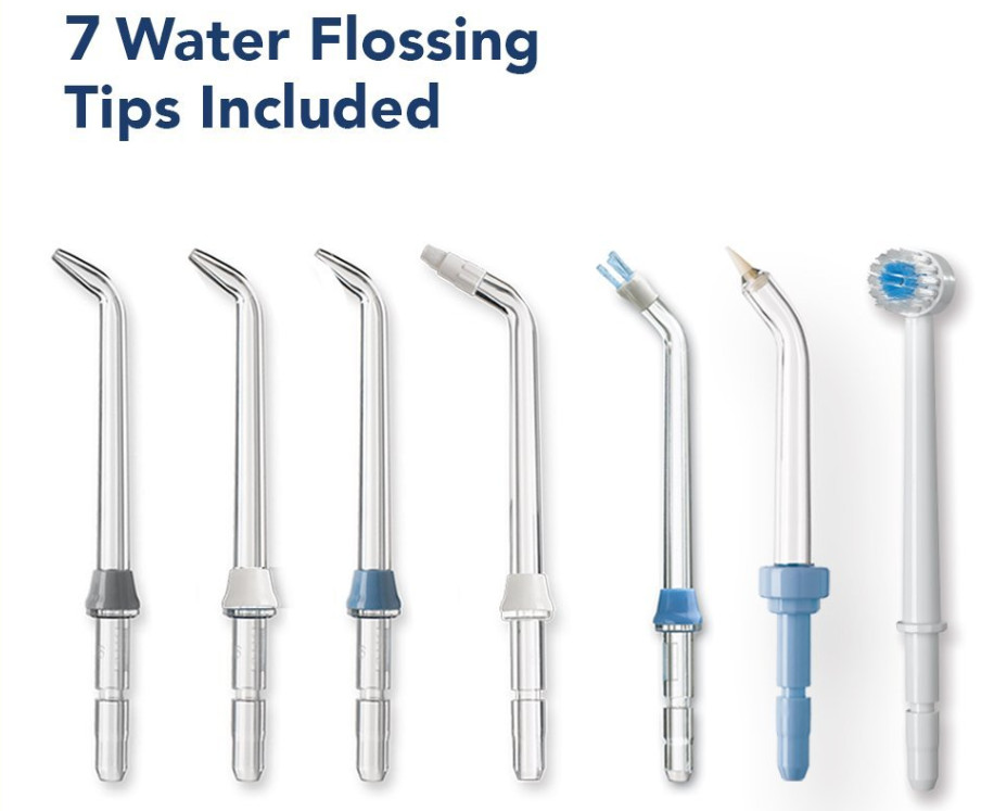 7 water flossing tips included