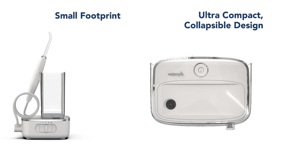 Slim and compact design of Waterpik Sidekick