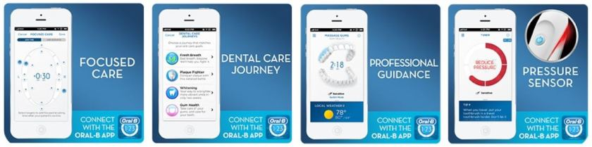 The Oral-B App for personalized brushing routines and daily monitoring