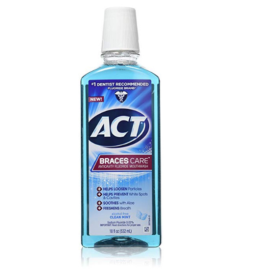 ACT Braces Care Anti-Cavity Fluoride Mouthwash